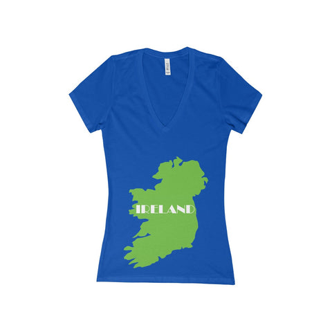 Ireland Women's Deep V-Neck Tee for St. Patrick's Day - Multiple Colors