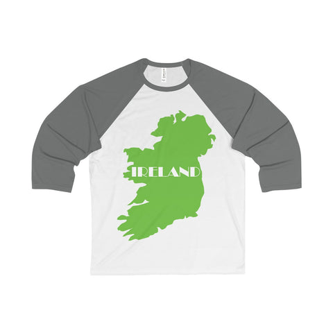 Ireland Unisex 3/4 Sleeve Baseball Tee for St. Patrick's Day - Multiple Colors