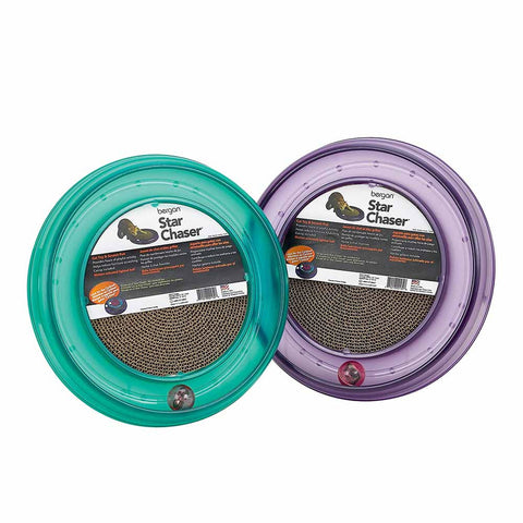 "Bergan BER-70130 Starchaser Turboscratcher Cat Toy Assorted 16"" x 16"" x 1.88"""