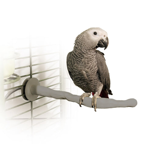 "K&H Pet Products Bird Thermo-Perch Gray 13"" x 1.25"" x 1.25"" - livezippy"