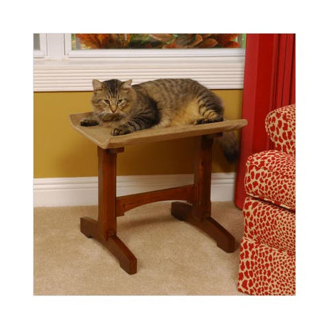 "Craftsman Series Single Seat Cat Perch Wood 20.5"" x 16"" x 18.5"" - livezippy"