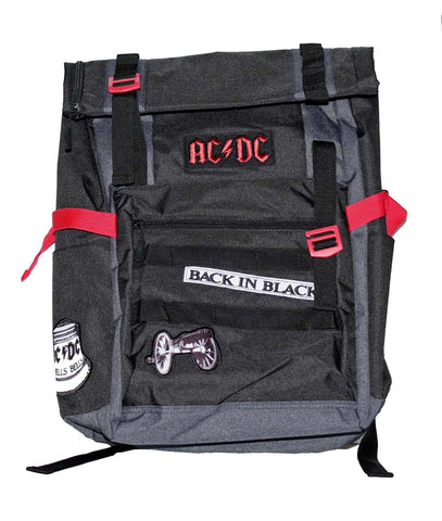 AC/DC Back in Black Roll-Top Backpack