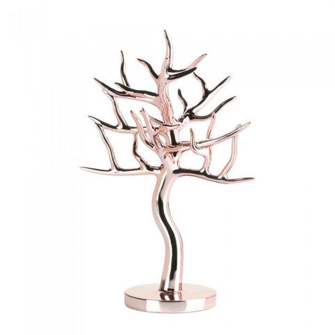 Accent Plus Rose Gold Jewelry Tree - livezippy