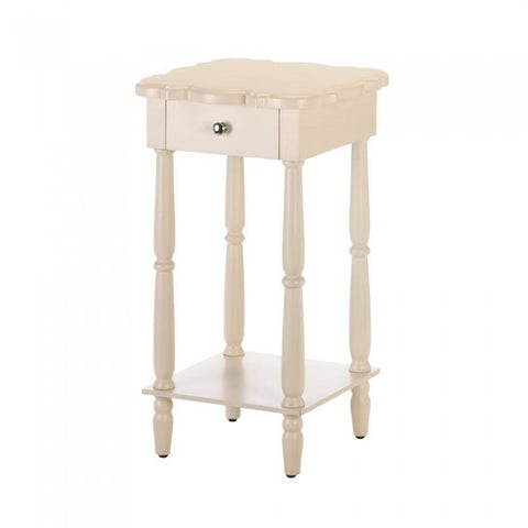 Accent Plus Chatham White Side Table - livezippy