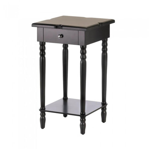 Accent Plus Hampton Black Wood Table - livezippy