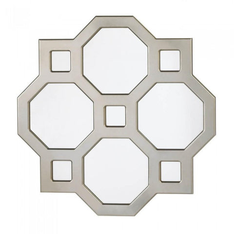Accent Plus Geometric Decorative Wall Mirror - livezippy