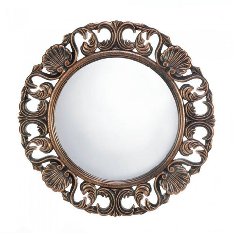 Accent Plus Heirloom Round Wall Mirror - livezippy