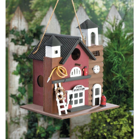Songbird Valley 10016851 Fire Station Birdhouse