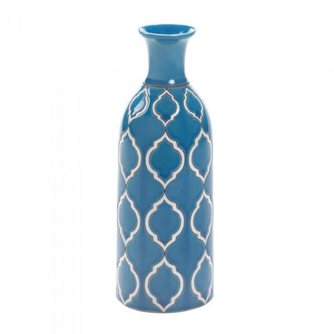 Accent Plus Merit Pale Blue Vase - livezippy