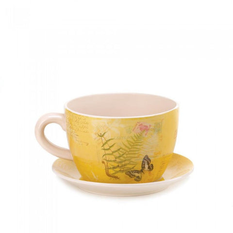 Summerfield Terrace Garden Butterfly Teacup Planter