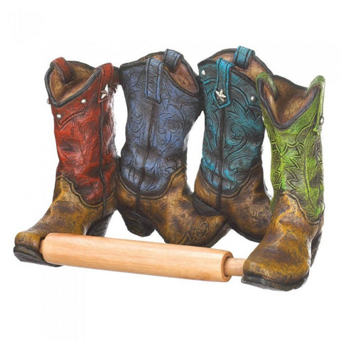Accent Plus Cowboy Boots Toilet Paper Holder - livezippy