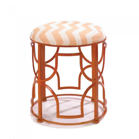 Accent Plus Chic Chevron Stool - livezippy