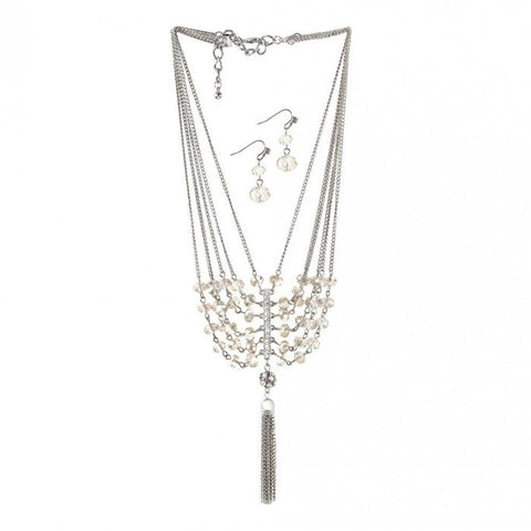 Breezy Couture Vintage Crystal Tassel Jewelry Set - livezippy