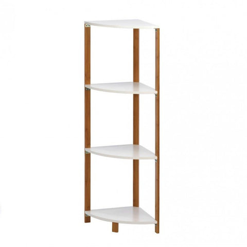 Accent Plus Bamboo Corner Shelf - livezippy