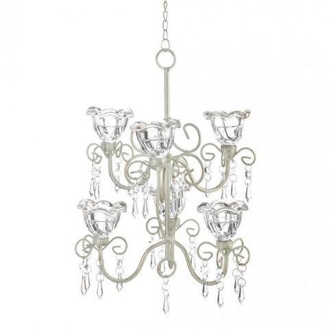 Gallery of Light Crystal Blooms Double Chandelier