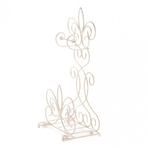 Accent Plus Fleur De Lis Bathroom Rack - livezippy