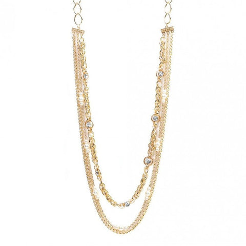 Breezy Couture Golden Layers Necklace
