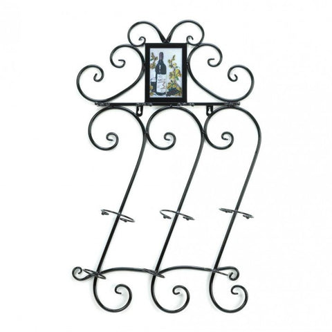 Accent Plus Scrollwork Wall Wine Rack