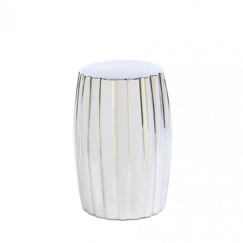 Accent Plus Silver Decorative Stool