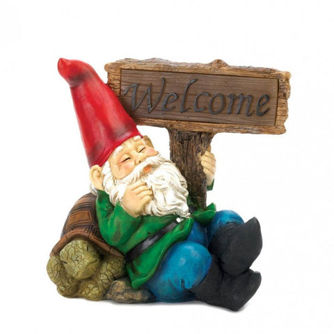 Summerfield Terrace Welcome Gnome Solar Statue