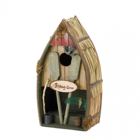 Songbird Valley Fishing Boat Birdhouse
