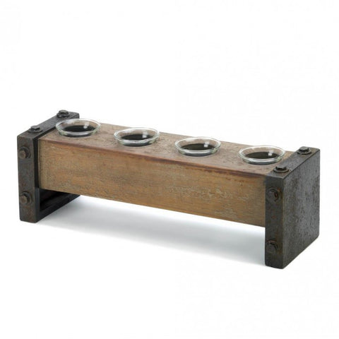 Gallery of Light Industrial Wooden Candleholder