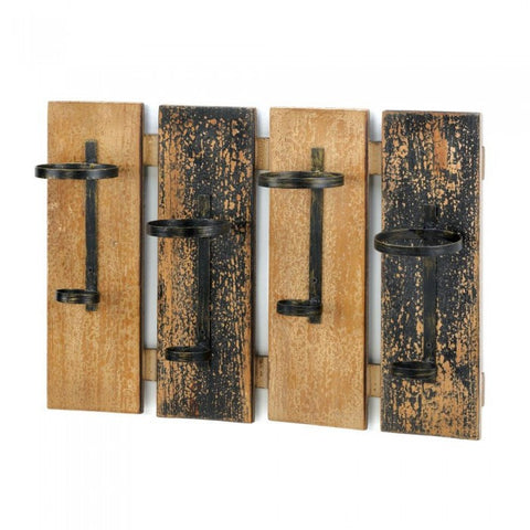 Accent Plus Rustic Wine Wall Rack - livezippy