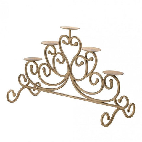 Gallery of Light Antiqued Iron 5-Candle Stand