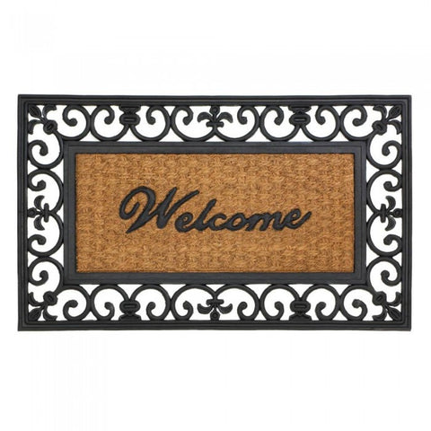 Summerfield Terrace Fleur-De-Lis Framed Entry Mat