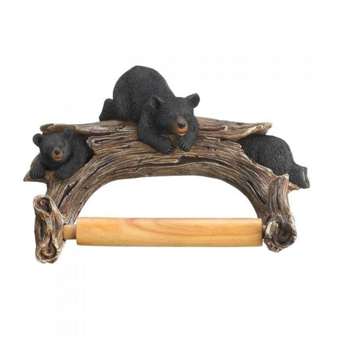 Accent Plus Black Bear Toilet Paper Holder - livezippy