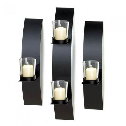 Gallery of Light Contemporary Wall Sconce Trio