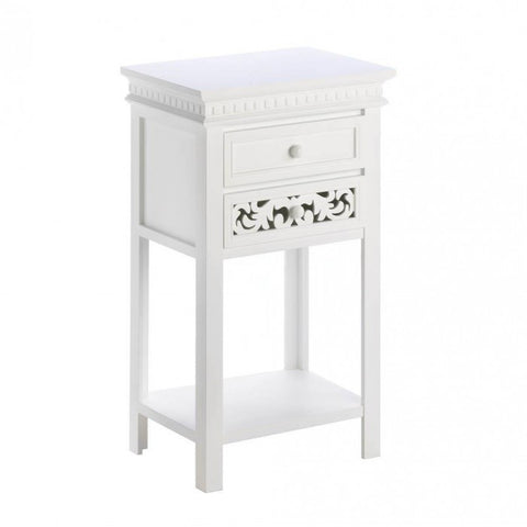 Accent Plus Fleur-De-Lis Side Table - livezippy