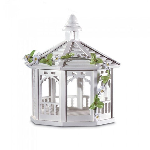 Songbird Valley 30209 White Gazebo Birdfeeder