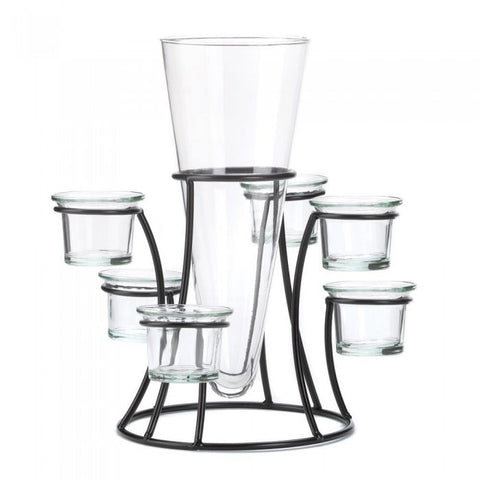Accent Plus Circular Candle Stand With Vase - livezippy