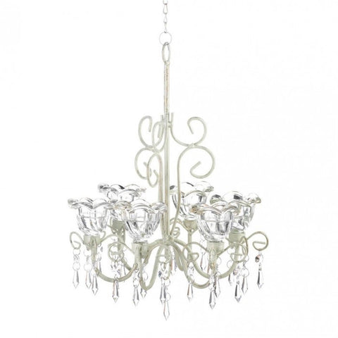 Gallery of Light Crystal Blooms Candle Chandelier