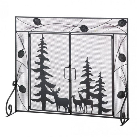 Accent Plus Woodland Forest Fireplace Screen