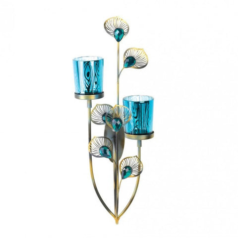Gallery of Light Peacock Plume Wall Sconce