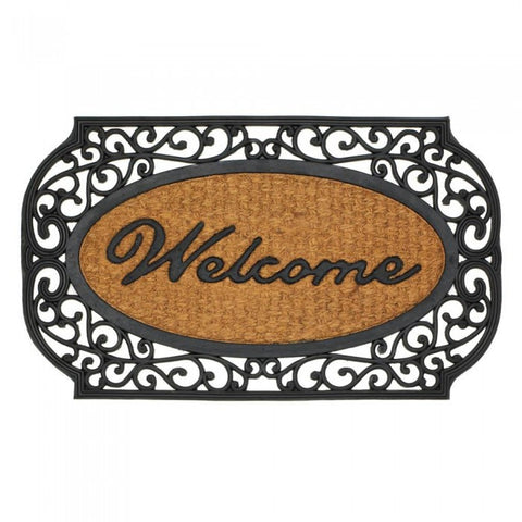Summerfield Terrace Frill Framed Welcome Entry Mat