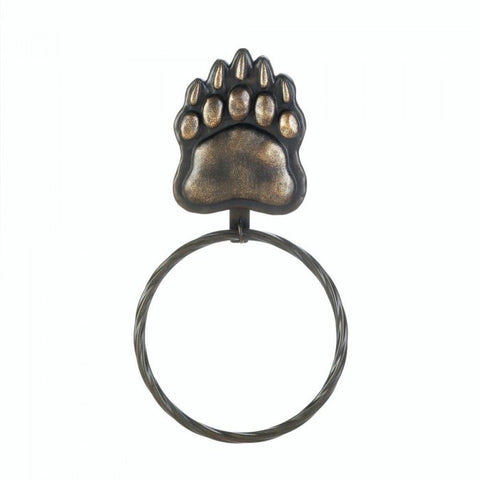 Accent Plus 10017727 Iron Bear Paw Towel Ring