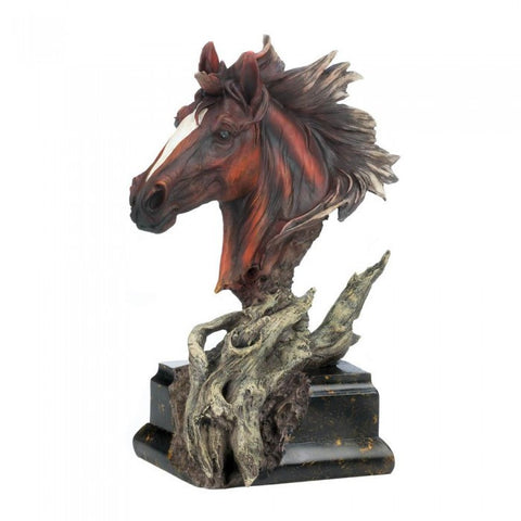 Accent Plus 10017222 Driftwood Stallion Sculpture