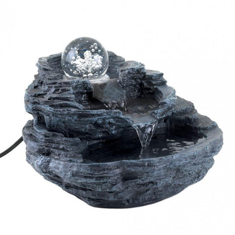 Cascading Fountains 34807 Rock Design Tabletop Fountain - livezippy