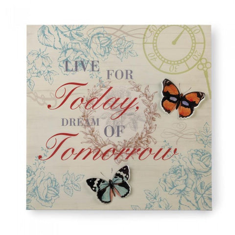 Accent Plus 10017430 Live And Dream 3-D Butterfly Wall Art