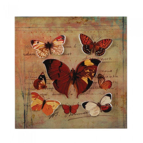 Accent Plus 10017435 Rustic Butterfly 3-D Wall Art