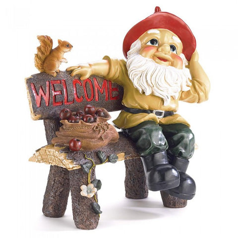 Summerfield Terrace 39265 Garden Gnome Greeting Sign