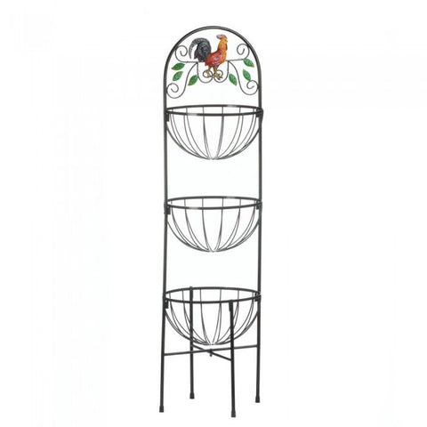 Accent Plus 10017861 Rooster 3-Tier Kitchen Basket