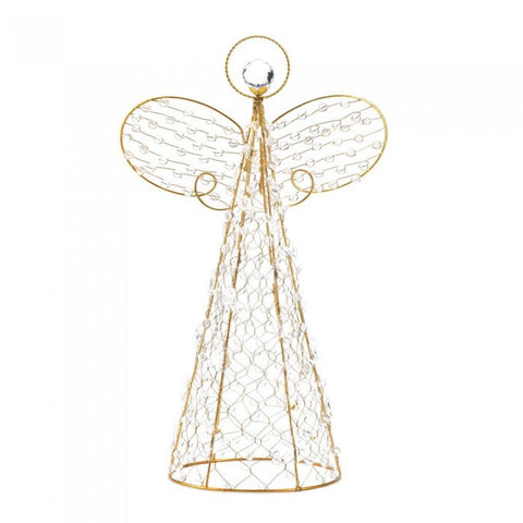 Christmas Collection 10015359 Beaded Angel Décor - livezippy