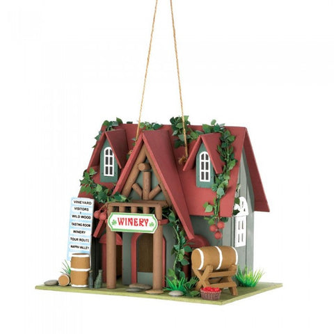 Songbird Valley 10015391 Cottage Winery Birdhouse