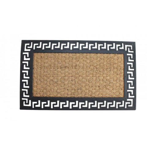 Summerfield Terrace 10017937 Welcome Mat With Geometric Border