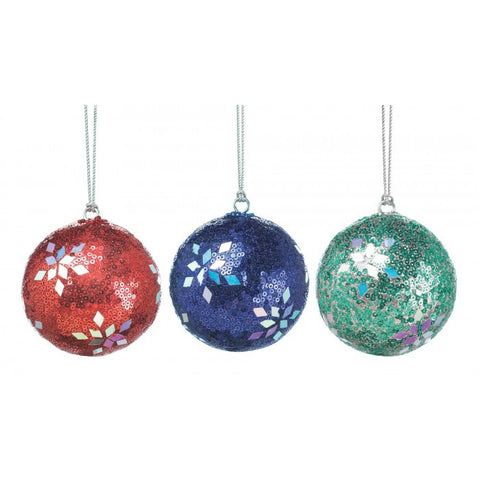 Christmas Collection 10017585 Holiday Dazzle Ornament Trio - livezippy