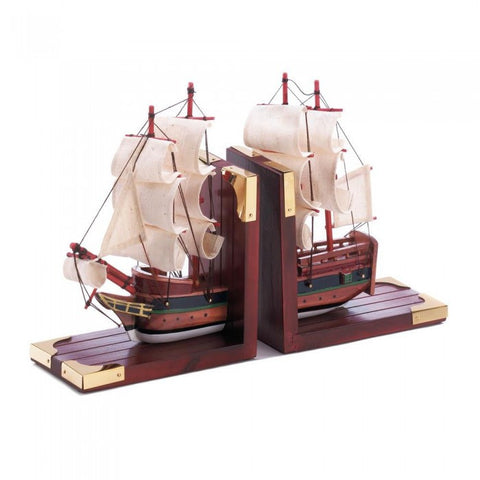 Accent Plus D1297 Sailing Schooner Bookends - livezippy